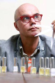 Bertrand Duchaufour, perfumer for fragrances from Jovoy, Ann Gerard, Eau d'Italie, Frapin, L'Artisan Parfumeur, Penhaligons, Majda Bekkali, Neela Vermeire Creations, Parfums MDCI, The Different Company, The Vagabond Prince, Comme Des Garcons, and Amouage #niche #perfume #luckyscent