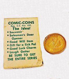 Great original packaging! ViNTAGE NaUGHTY COMIC COINS HeADS Tails ToKEN COIN, MeNS HuMOR. ErOTICA, ViNTAGE SaLESMAN SaMPLE, GooD LuCK PrEMIUM. https://www.etsy.com/listing/472865329. $55.00