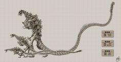 Raffæl — Shin Godzilla skeletons (x) Creature Feature, Creature Design, Godzilla Resurgence, Strange Beasts, Japanese Monster, Image Fun, Comic Movies, King Kong, Sci Fi