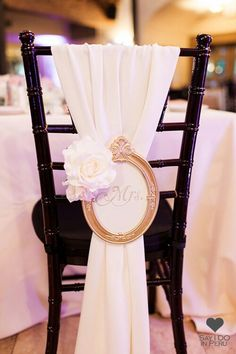 "A good option to make funkier bride and groom's chair is to decorate it with an elegant fabric and with a little frame that could say ""Mrs."" or ""Ms."". It will look beautiful and sweet. Find more wedding tips on WWW.sayidoinperu.com  #sayido #sayidoinperu #wedding #love #truelove #instawedding #instawed #weddingpic #weddingplaning  #event #bigevent #bigday #dreamwedding #memories #specialday #beauty #dreams #newcouple #grooms #romantic #romanticwedding  #like4like #instapic #followus"