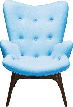 Sessel Clubsessel Relaxsessel Angels Wings Blau Retro Neu KARE Design   eBay