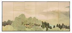 Mountain Landscape Six-Panel Folding Screens - Part 1