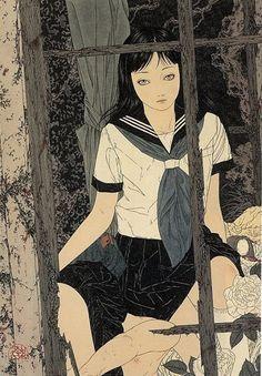 Girl In Abandoned Shack