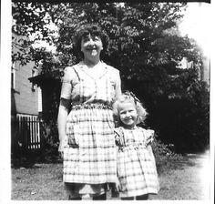 Grandma and Terry, back yard, 1946