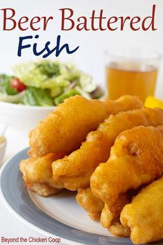 Battered Fish Beer Battered Fish with a crispy coating and tender flaky fish. via Battered Fish with a crispy coating and tender flaky fish. Seafood Dishes, Seafood Recipes, Cooking Recipes, Seafood Platter, Game Recipes, Vegetarian Recipes, Fish Batter Recipe, Beer Batter For Fish, Fish Fry Batter