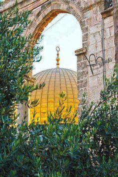 Qibat Al Sakhra Al - Musharaffa inside Al Haram Al Qudsi Ash - Sharif, Al Quds, Falasteen is in my Heart