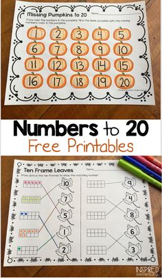 FREE printable pages and ideas for writing numbers and letters.