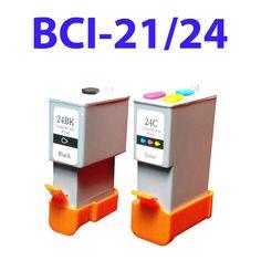 2pk compatible catridge BCI-21/24 BK/C for Canon i250 i350 PIXMA iP1000 iP2000 S200 Canon Cartridge, Printer Ink Cartridges, Canon Ink