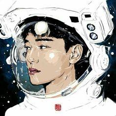 Chen by gilgoldin on FanBook Exo Kokobop, Exo Chen, Chanyeol, Kpop Fanart, Cute Bunny Pictures, Sun Projects, Exo Anime, Exo Fan Art, Kim Jongdae