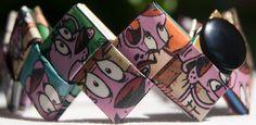 Courage the Cowardly Dog cuff bracelet by FantasticFoldsShop, $23.00