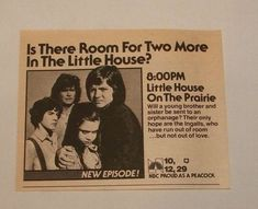 Newspaper Advertisement for the Episode of The Lost Ones