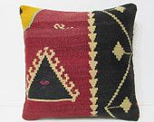 """Turkish cushion 18"""" sofa throw pillow kilim pillow cover decorative pillow case couch outdoor floor bohemian boho ethnic rustic accent 21782"""