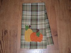Kitchen Tea/Dish Towel Pumpkin Harvest Fall Applique by RKBoutique, $10.75