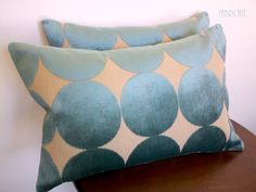 Plush Dotscape Peacock Pillow Cover. $40.00, via Etsy.