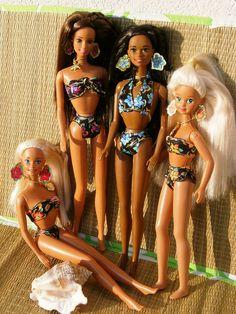 Tropical Splash Group... Barbie, Teresa, Christie and Skipper