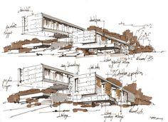 modern architectural sketches. Hotel In Gdansk / Pawel Podwojewski Modern Architectural Sketches H