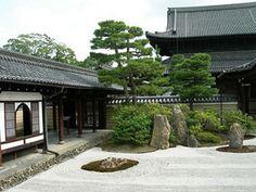 Сад камней в Киото (Япония)