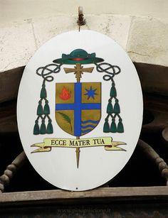 Stemma episcopale di mons. Gianfranco de Luca vescovo di Termoli-Larino, affisso sopra il portale dell'ex Episcopio adiacente alla Cattedrale, ora sede del Museo Diocesano G.A. Tria