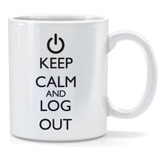 Tazza personalizzata Keep calm and log out