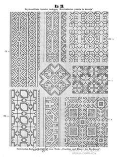 Käytännöllisiä lisälehtiä teokseen Mordvalaisten pukuja ja kuoseja - Praktische Ergänzungsblätter zu dem Werke Trachten und Muster der Mordvinen - (57 of 97) (No 28 of No 45)