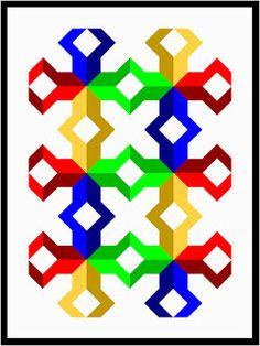 Wayne Kollinger's Sketch Book: Ninepatch Pinwheel Quilt #3