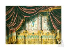 Sketch for the Curtain for the Michael Theatre in Saint Petersburg Giclee Print at Art.com