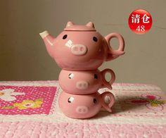 piling pigs teapot