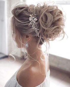 : wedding updo hairstyle, messy updo bridal hairstyle,updo hairstyles ,wedding hairstyles Hairstyles Gorgeous & Super-Chic Hairstyle That's Breathtaking - Fabmood Long Hair Wedding Styles, Wedding Hairstyles For Long Hair, Wedding Hair And Makeup, Bridesmaid Hairstyles, Hairstyles For Weddings, Up Hairstyles For Wedding, Engagement Hairstyles, Updos For Brides, Bohemian Wedding Hairstyles