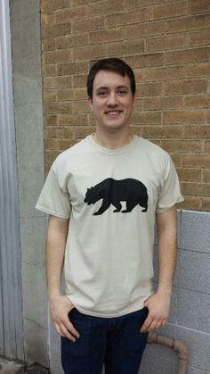 Men's T-shirt tan sand beige- Short sleeve - spring style fashion @ Black Bear Trading Asheville N.C.
