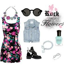 Rock in Flowers