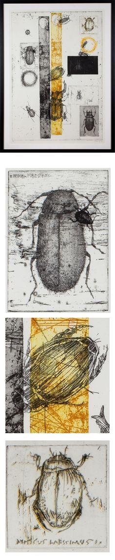 Etchings 2011 by Simon Prades, via Behance Intaglio Printmaking, Collagraph, Drypoint Etching, Creation Art, Ap Studio Art, Insect Art, Art Sculpture, A Level Art, Art Plastique
