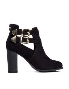 Image 1 ofLondon Rebel Cut Out Strap Ankle Boots