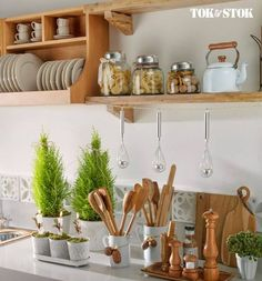 Kitchen Decoration - Top 20 Light Home Decor Gallery Home Decor Kitchen, Diy Kitchen, Home Kitchens, Kitchen Dining, Kitchen Tools, Shelf Design, Küchen Design, Design Ideas, Room Interior