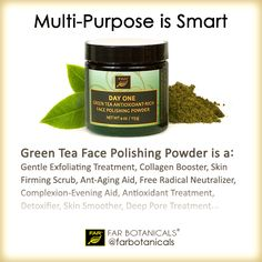 Multi-purpose is the rule at FAR Botanicals because it's good for the environment and good on our customers' wallets. Enjoy all the ant-aging benefits of our Green Tea Polishing Powder by sprinkling a little over your Day One Gentle Clarifying Cleanser. Massage onto your damp skin, rinse and enjoy a rejuvenated, smooth completion. Visit the link in our bio @farbotanicals to take $5 off your next order. - - #farbotanicals #loveyourself #pamperyourself #handcrafted #musthave #grooming..