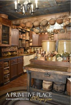 Primitive Home Decorating, Primitive Homes, Primitive Kitchen, Primitive Decor, Cottage Kitchen Decor, Antique Kitchen Decor, Vintage Kitchen, Colonial Kitchen, Primitive Furniture