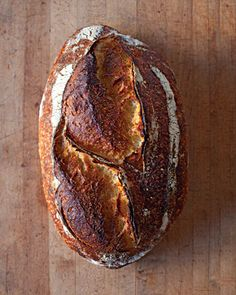 "I am going to make this bread! It's like a ""Mountain"" I must climb! LOL  Chad Robertson's Tartine Bread recipe/tutorial at Marthastewart.com"