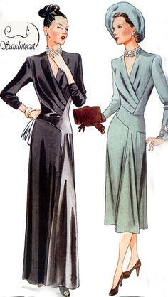 OOP Vintage Model Vogue 2354 Dress Original 1947 by sandritocat