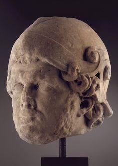 ROMAN MARBLE HEAD OF THE EMPEROR CARACALLA, AD 211-217