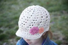 ReadytoShip Girl's Cotton Brimmed Beanie by OliJAccessories, $22.00