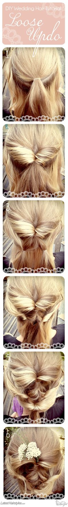 A Beautifully Loose Updo. I so hope my hair is long enough for this!