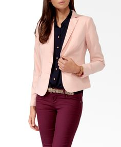 Essential Twill Blazer. Comes in coral too!