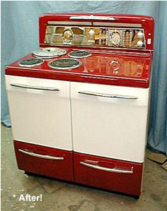 1947 Gibson Range. I. Love. You. #vintage #stove. This is like the stove that was in our Lake Tahoe cabin!