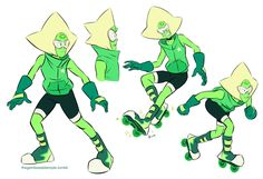 Let's get momswappy! First up, Peridot! In just about every take I've seen, she still has her robot parts despite that she wouldn't be a modern gem in the context of the general AU, which is fine, but...