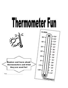 Make Your Own Thermometer  Science Weather    Math