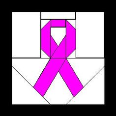 Paper-Pieced Pink Ribbon OR even a yellow ribbon.  Links to Carol Doak site & free patterns