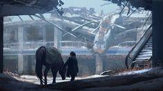 #TheLastofUs #VideoGames #Ruin #ConceptArt #Apocalyptic #Artwork #Horse #DigitalArt #Wallpaper