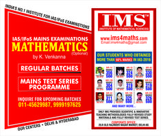 We provide civil services math's optional coaching and test Series with the most upgraded syllabus and techniques. Our Top selected rankers have made us the top IAS coaching in Delhi and Hyderabad. Our Students are our biggest strength and we always strive for their betterment.