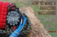 Paracord Watchband | 25 Paracord Projects, Knots & Ideas