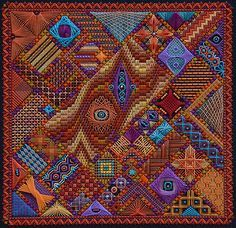 Stitched canvas by Lorene