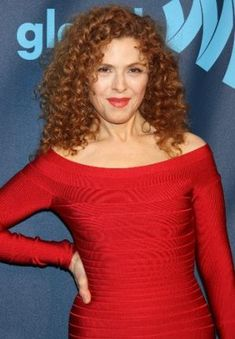Bernadette Peters  ~~ I'd kill for her hair.  Or Alex Kingston's....either way...  ~~